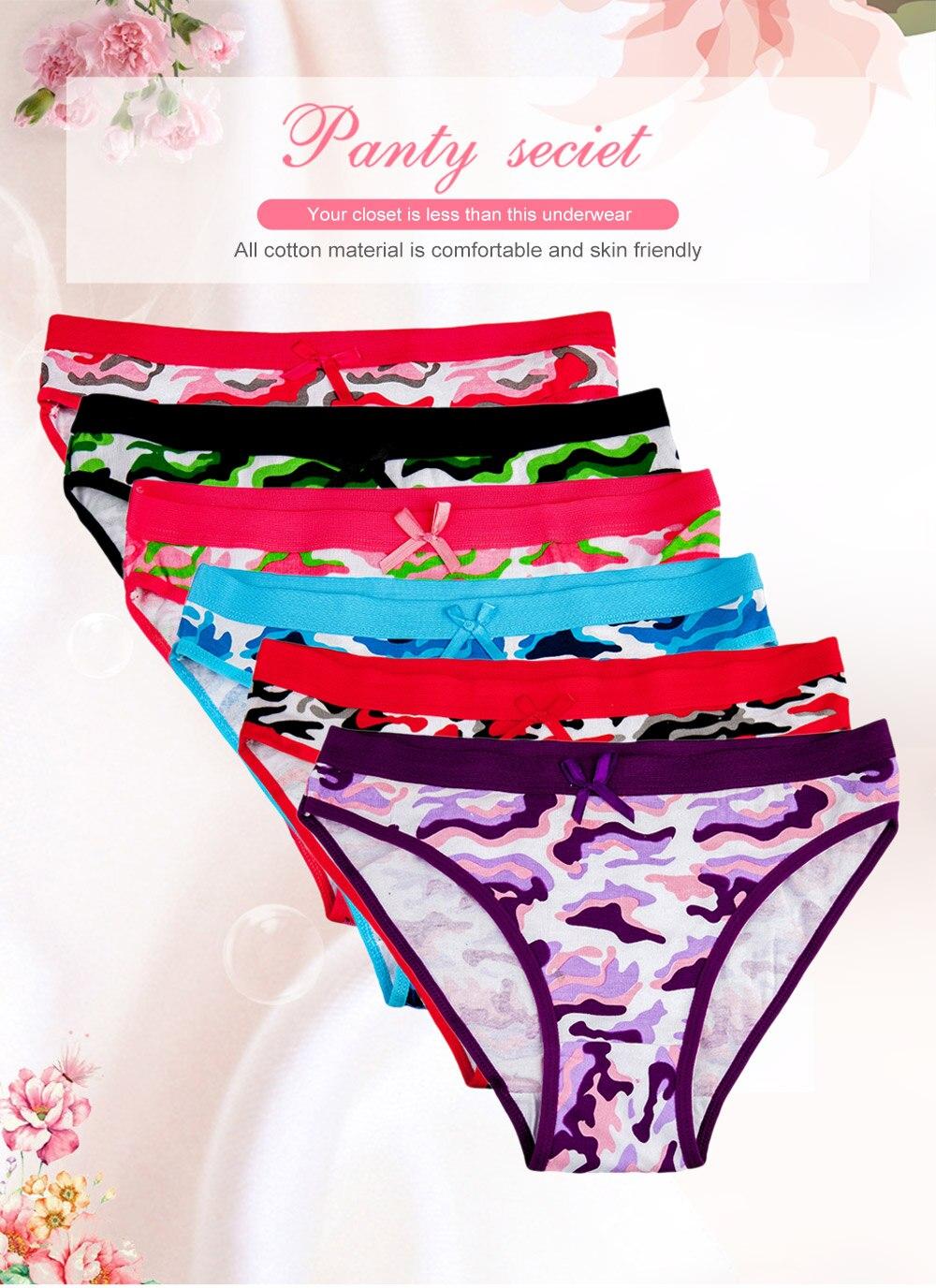 63e213d22bf 2019 FUNCILAC Underwear Women Cotton Sexy Panties Briefs Camouflage ...