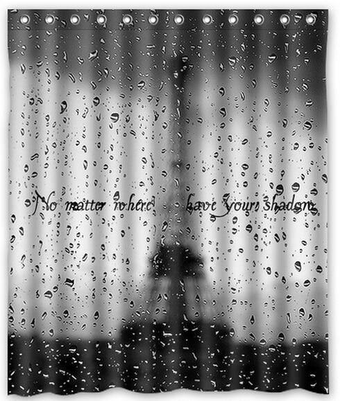 Free Shipping Rain Window Eiffel Tower Custom Shower Curtain Home Decor Waterproof Fabric Fashion Bath SCN 080