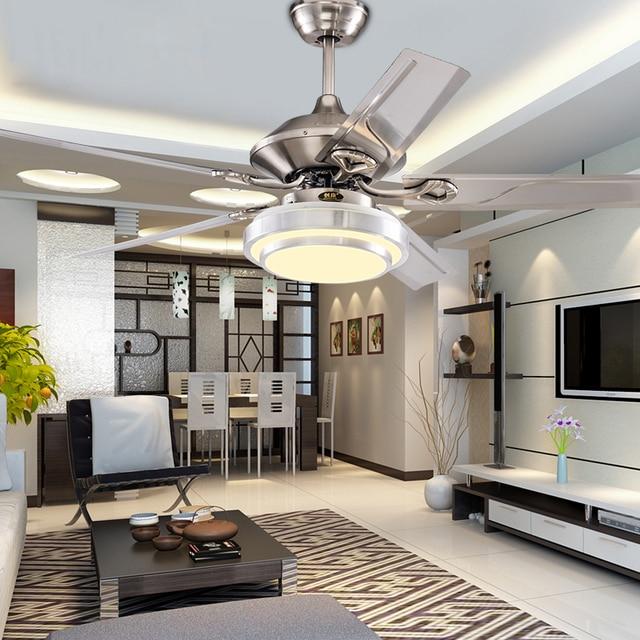 2017 decorativo ventiladores de techo acero hoja ventilador de techo 2017 decorativo ventiladores de techo acero hoja ventilador de techo restaurante lmpara led moda moderna luces aloadofball Images