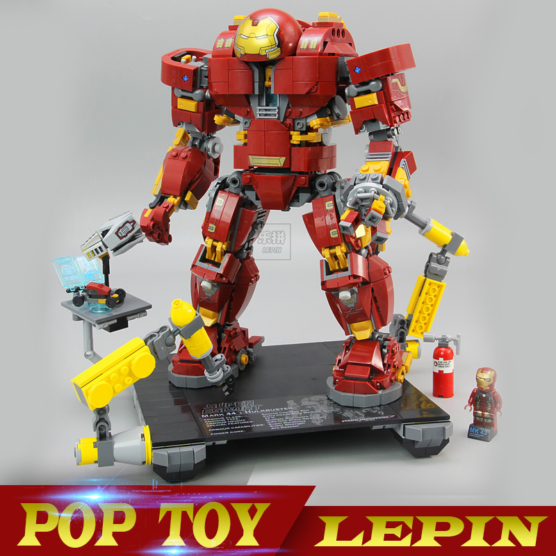 Lepin 07101 1527Pcs Super Genuine Hero Compatible with 76105 Iron Man Anti Hulk Mech Toy Building Bricks Blocks Model for boy цена