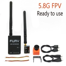 מוכן לשימוש 5.8G FPV מקלט UVC וידאו Downlink OTG VR אנדרואיד טלפון + 5.8G 200/600mw משדר TS5823 + CMOS 1200TVL מצלמה fpv