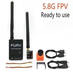 Ready to use 5.8G FPV Receiver UVC Video Downlink OTG VR Android Phone+5.8G 200/600mw Transmitter TS5823+CMOS 1200TVL Camera fpv(China)