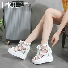 HKJL Fashion New platform and gladiator sandals for lady with wedges summer high heels insoles A096