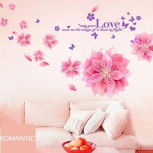 Free Shipping Romantic Love Wall Sticker Bedroom Wedding Heart