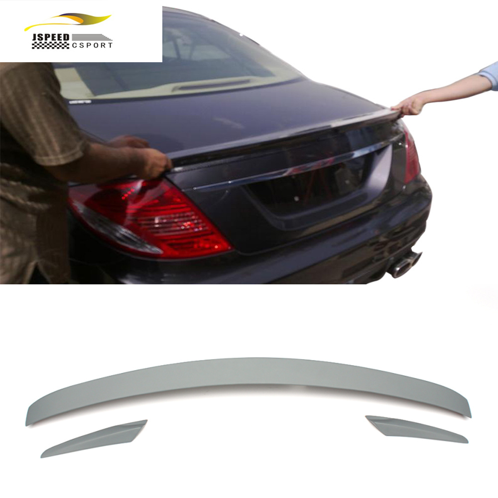 Car Styling FRP Rear Trunk Spoiler Wing for Benz W216 CL CLASS 2007-2012 high quality frp jc styling car rear spoiler for ben z auto roof rear wing for smart