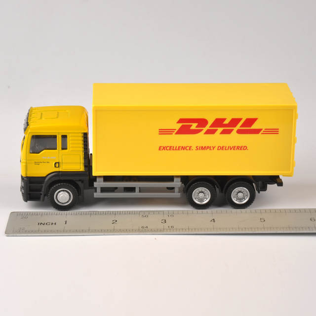 Online Shop Diecast Lkw 1 64 Skala Express Dhl Lkw Modell Gelb