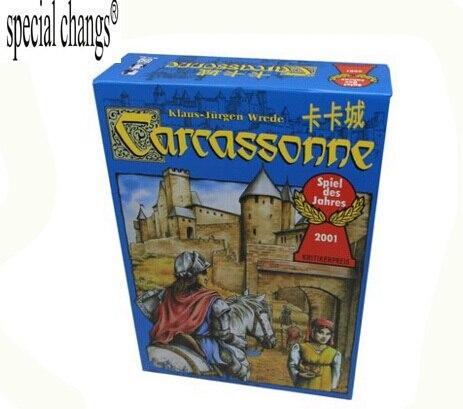Carcasona, juego de mesa inglés 2-5 jugadores juego de cartas para fiesta/familia/amigos fácil de jugar con envío gratis
