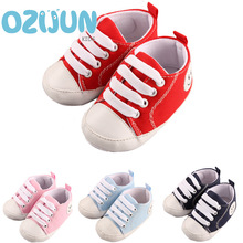 Hot selling Newborn baby girl boy first walkers shoes baby sneakers infant toddler soft soles canvas shoes sport 0-12 months