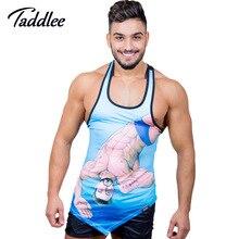 Taddlee Brand Men Tank Top Sleeveless T Shirts Vest Man Gym Run Basketball Top Tees Shirts polyester Stringer Singlets Muscle