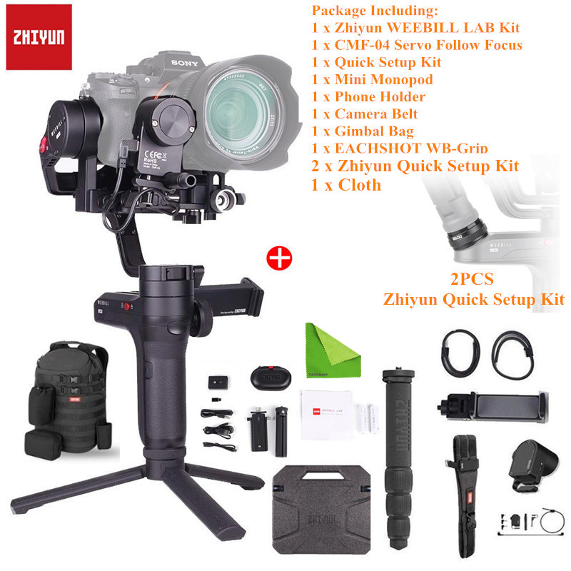 Zhiyun-Tech WEEBILL LAB 3-Axis Gimbal Handheld Stabilizer For Sony Mirrorless Camera Support Sensor Control With Quick Setup Kit