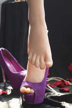 Livraison gratuite mode Silicone femme pieds modele pieds de Mannequin pour laffichage