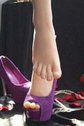 Livraison gratuite mode Silicone femme pieds modele pieds de Mannequin pour l'affichage