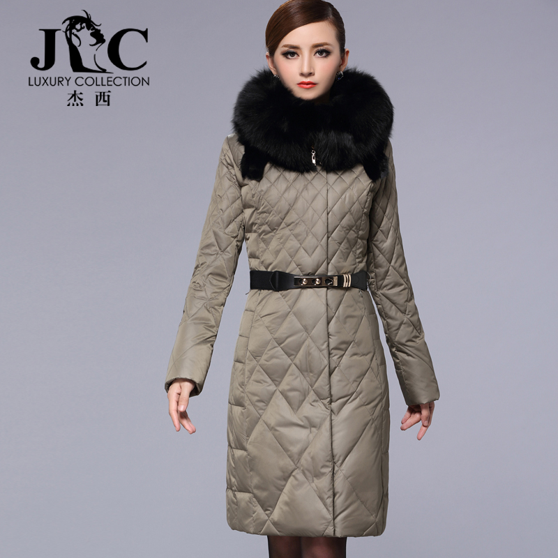 2015 new Hot winter Thicken Warm Woman Down jacket Coat Parkas Outerwear Hooded fox Fur collar Luxury High long plus size 4XXXXL 2015 new hot winter thicken warm woman down jacket coat parkas outerwear hooded fox fur collar luxury long plus size 2xxl goose