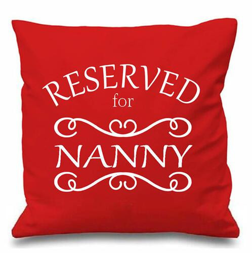 Funky Pillow Cases Reserved Nanny Cushion Cover Pillows Case Covers 18 Nanna Gran Gifts Home Decor Printed Two Sides Pink