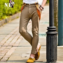 EARL JOEL high quality 2015 men summer 100% cotton cool soft material ankle-length pants casual young man suits pant super slim