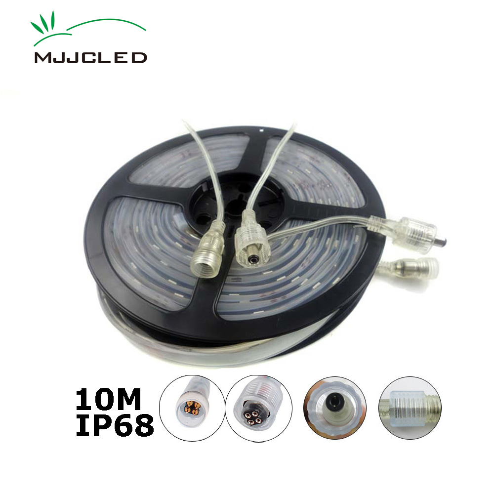 12V LED Strip Waterproof IP68 LED Stripes Outdoor 10M 300LEDs SMD 5050 Flexible Ribbon Lights RGB Daylight Warm Cool White Strip hml ip68 waterproof 72w 6000lm 300 smd 5050 led warm white light led strip w mini controller