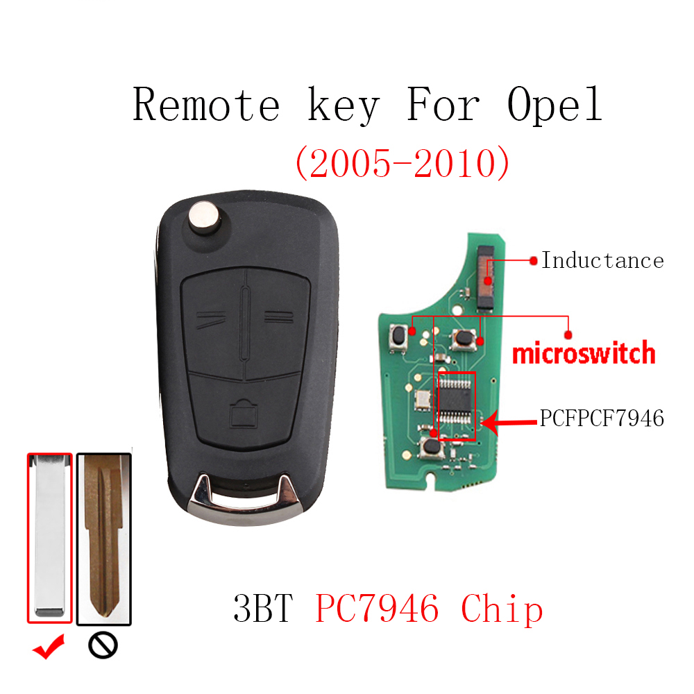 3Buttons Remote key For Vauxhall Opel Vectra C 2002 2003 2004 2005 2006 2007 2008  Transponder Chip PCF7946 Original keys3Buttons Remote key For Vauxhall Opel Vectra C 2002 2003 2004 2005 2006 2007 2008  Transponder Chip PCF7946 Original keys