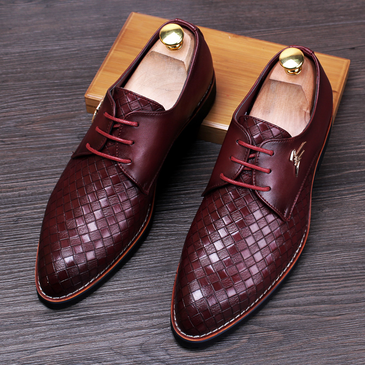 italian weave design men fashion cow leather shoes young breathable lace-up flats oxford shoe wedding party dresses sapatos male купальник michael michael kors michael michael kors mi048ewnkl56