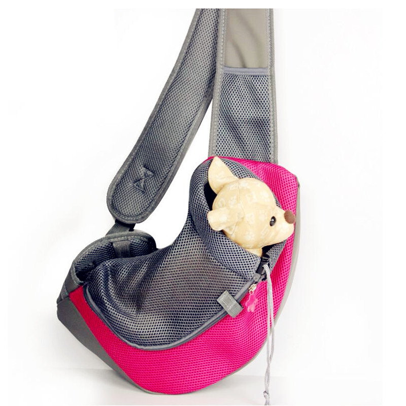 Pet Carrier Carrying Cat Dog Puppy Small Animal Sling Front Carrier Mesh Comfort Travel Tote Shoulder Bag Dog Crate SL