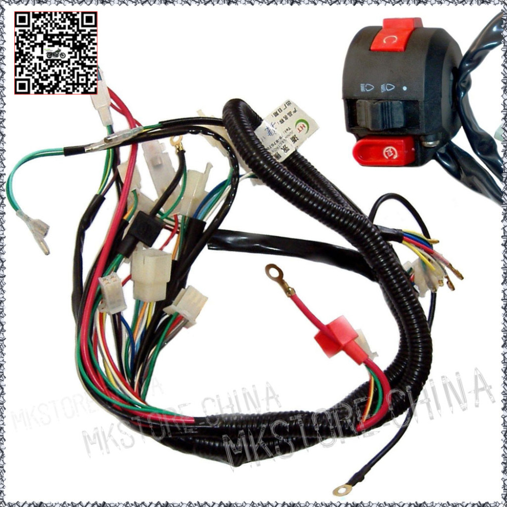 hight resolution of 110cc switch quad electrics zongshen lifan ducar razor cdi coil wire harness free shipping