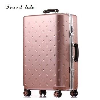 d9eb00996 De cuento durable y contratado PC/20/24/26/28 pulgadas equipaje rodante  Spinner de maleta de viaje viaje de negocios de equipaje