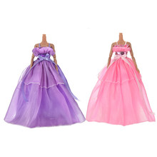 7 Colors Elegant Summer Clothing Gown For girl doll Handmake princess wedding Dress Beaty Doll Party Dress Hot sale(China)