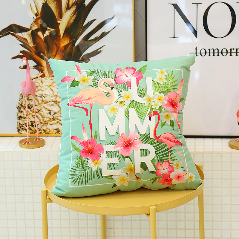Cute Flamingo Cushion Pillow Case Flamingo Party Bedroom Sofa Home Decoration accessories Birthday/Wedding Favors and Gifts 6