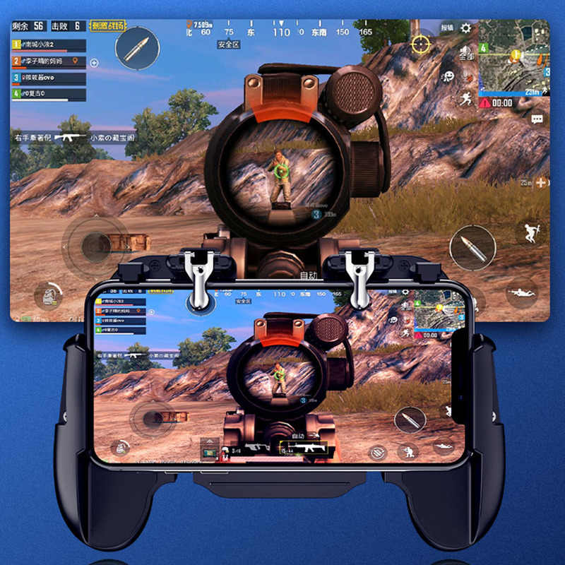 Mobile Gaming Gamepad Cooler Cooling Fan Free Fire Pubg Mobile Phone Game Controller Pubg Gamepad Joystick Metal L1 R1 Trigger Aliexpress