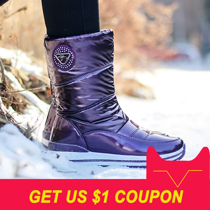 High Quality Women Boots New Arrivals Waterproof Thick Fur Winter Shoes Slip-resistant Women Platform Snow Boots