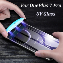 UV Liquid Full Glue Screen Protector For OnePlus 7 Pro Case Friendly Tempered Glass Cover for 1+7pro One Plus 7 Pro Glass Film