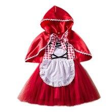acfa898d7 Fantasía bebé niña Halloween disfraz para niños Caperucita Roja nieve  blanca niñas princesa fiesta Vestidos de