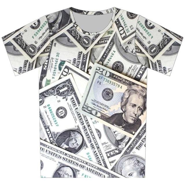 2016 детей мода 3D майка девочка мальчик прохладно с коротким рукавом принт футболка шоколад дорога животных глаз деньги дизайн топы