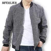 MFERLIER Winter autumn men Jackets casual large size 5XL 6XL 7XL Bust 145cm Outerwear men coats Gray colors