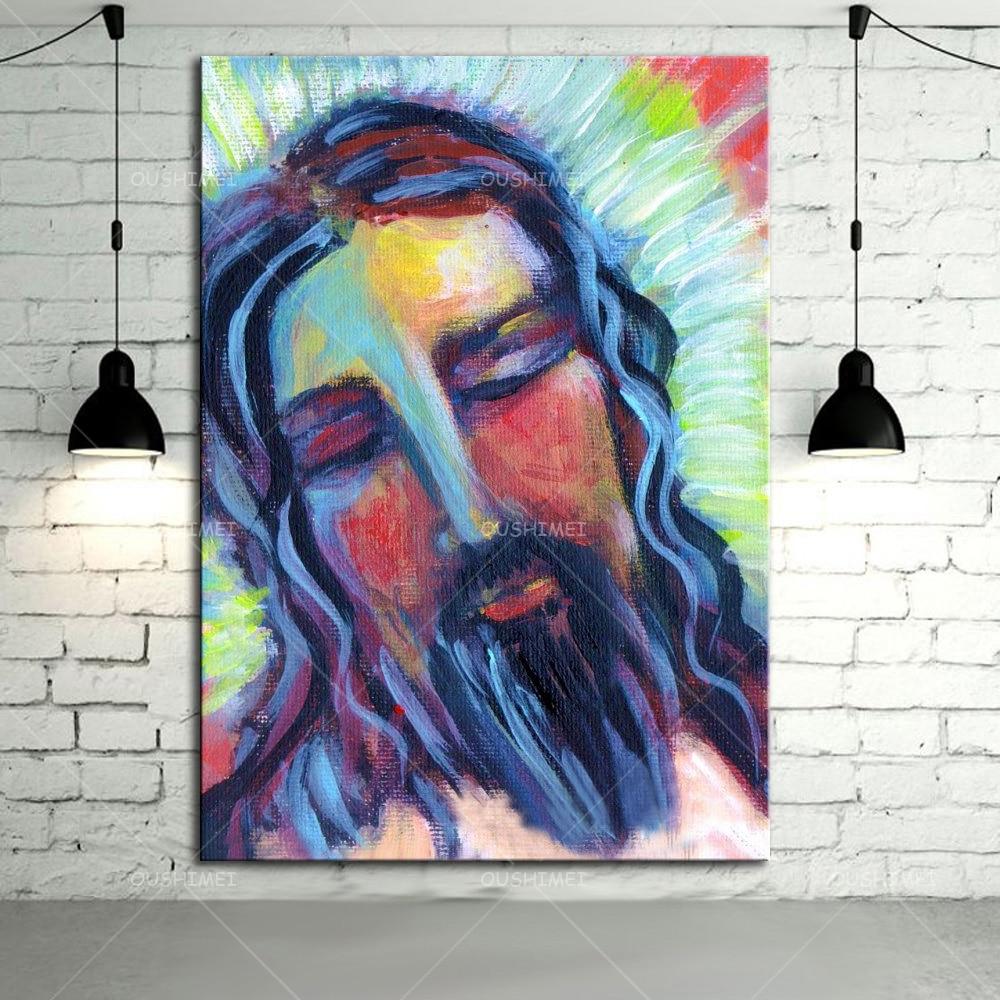 Jesus Abstract Art Paintings