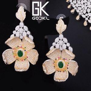 Image 5 - GODKI יוקרה מעוקב זירקון ניגרית נשים חתונה הודי שרשרת עגילי סטי צמיד טבעת parure bijoux femme