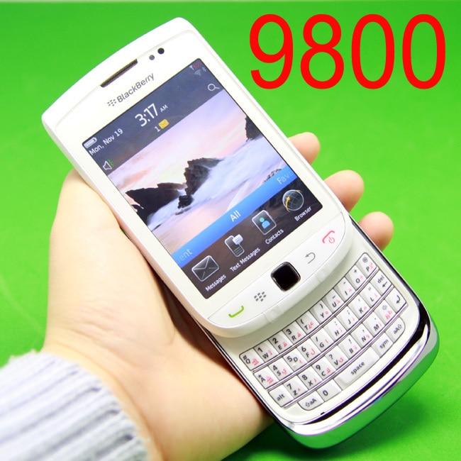 Original BlackBerry Torch 9800 Mobile Phone OS Smartphone Unlocked 3G Wifi Bluetooth GPS Cellphone White