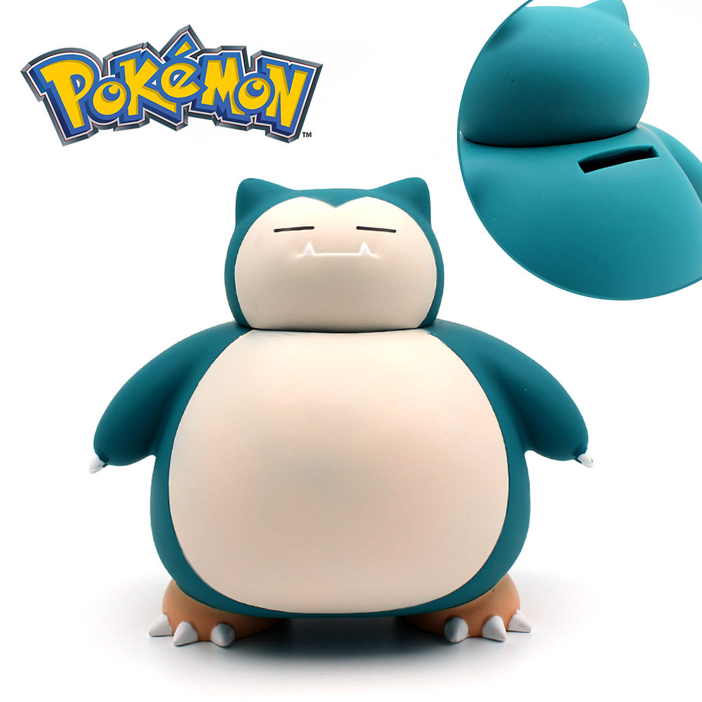 Hot Anime For Poke PM Fans Cute Cool PVC 15CM Snorlax Coin Collection Money Box Savings Bank Otaku Coin Collection Gifts