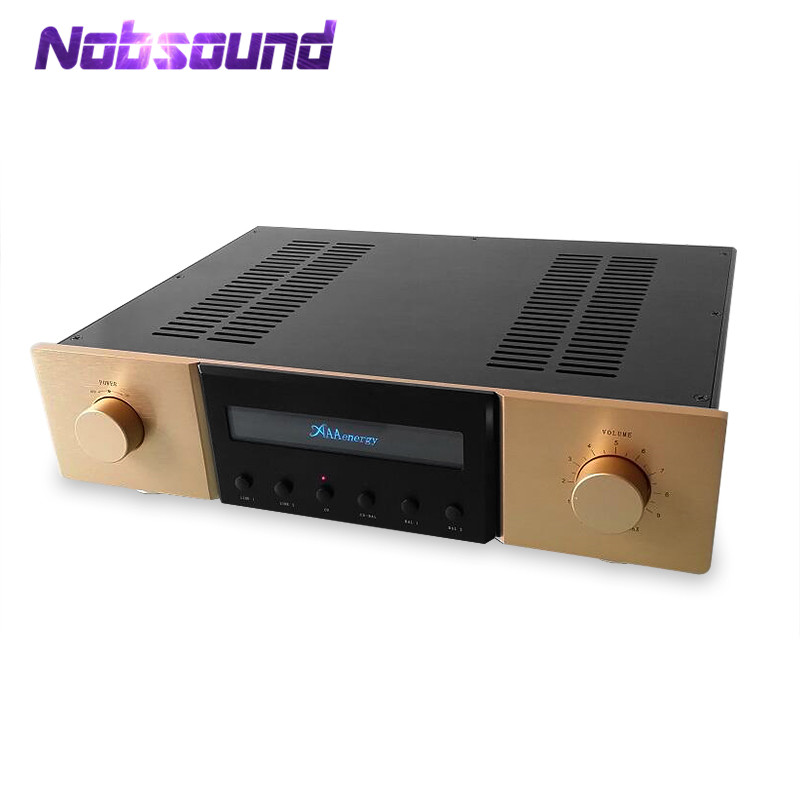 Nobsound Hi-end Fully Balanced Hi-Fi Stereo Preamplifier 2018 latest nobsound hi end transistor pre amplifiers stereo hi fi preamp reference level