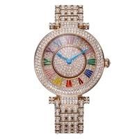 Davena леди наручные часы Кристалл Для женщин повернуть часов Топ моды платье браслет Роскошные Стразы Bling для девочек подарок на день рождени