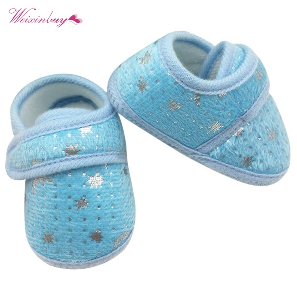 Toddler Baby Kid Girl Solid Shoes Soft PU Leather Anti-Slip Prewalker 0-12 Month