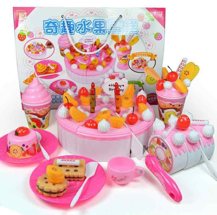 Excellent Interesting Puzzle Toy Play House Fruit Cake Diy Birthday Cake Two Funny Birthday Cards Online Aboleapandamsfinfo
