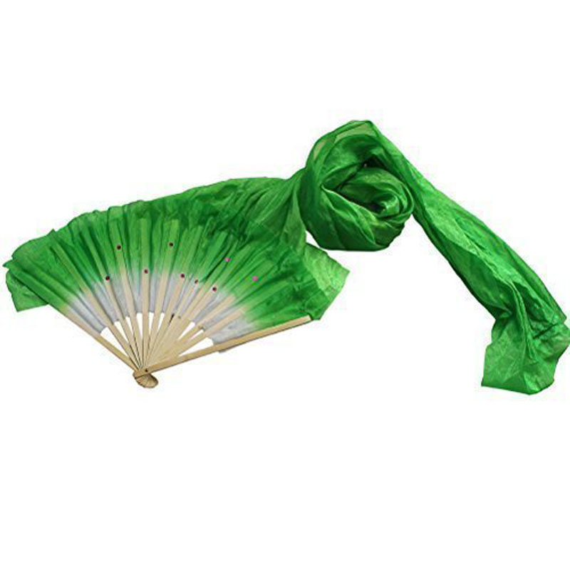 1.8m Hand Made Colorful Belly Dancing Bamboo Long Silk Fans Veils Dance Fan Belly Dance Costumes Accessories