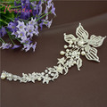 Bridal Frontlet Accessories Luxurious Drilling Flowers Ladies Headpiece Women Wedding Clear Crystal Tiaras Crown for Women RE194