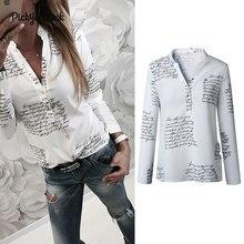 PickyourLook Fashion Blouse Women Shirts Long Sleeve Button Shirt blusas Plus Size Womens Tops and Blouses camisa feminina