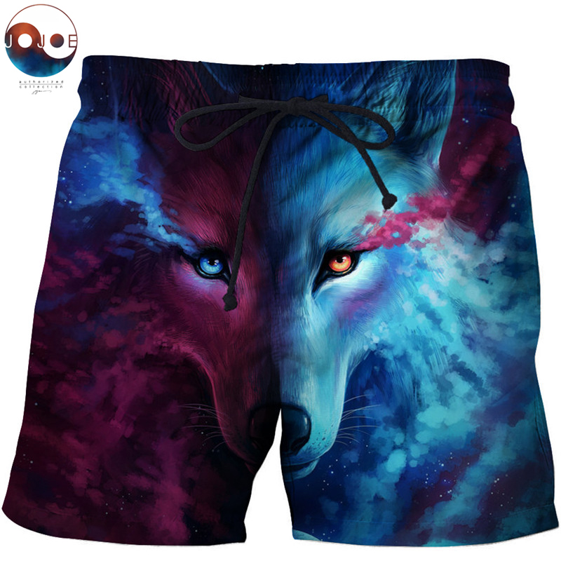 Where Light And Dark Meet by JoJosArt Wolf Printed Beach   Shorts   Masculino Men Pant Funny   Board     Shorts   Quick Dry Pant   Short   Plage