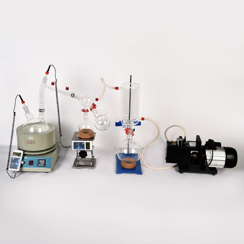 Équipement de laboratoire petit équipement de Distillation à courte distance 5L Distillation à courte distance comprend un kit de pompes à vide