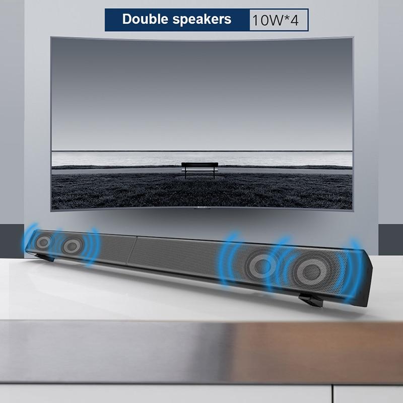 Sound Bar Subwoof Bluetooth Speaker LP-09 HIFI Home TV Echo Wall Soundbar 40W Wireless Bluetooth Speaker with Remote Control