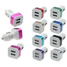 Автомобиль Универсальный 12 V-5 V Двойной USB Порт Зарядное устройство Для Смарт-телефон GPS