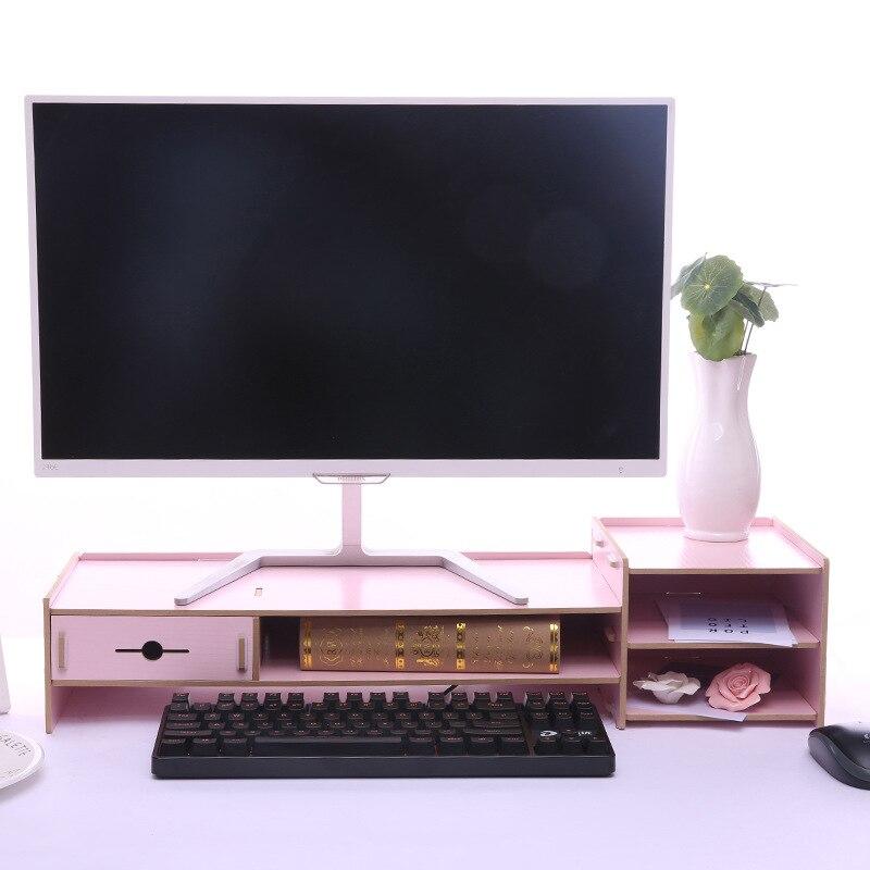 Подставка для монитора, настольный органайзер, органайзер для ухода за шеей, органайзер для работы, клавиатура, полка с выдвижным ящиком