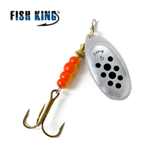 FISH  KING MEPPS 1PC 1# 2# 3# 4# 5# Fishing Lure Bass Hard Baits Spoon With Treble Hook Tackle High Quality